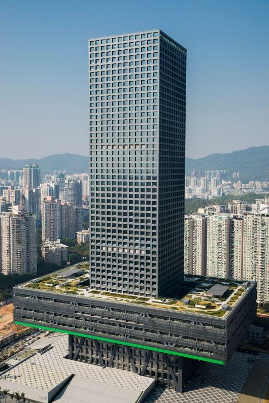 Shenzhen Stock Exchange, Shenzhen, China | OMA; Structural Designer: Arup. Photo: Marcel Lam Photography | Bustler