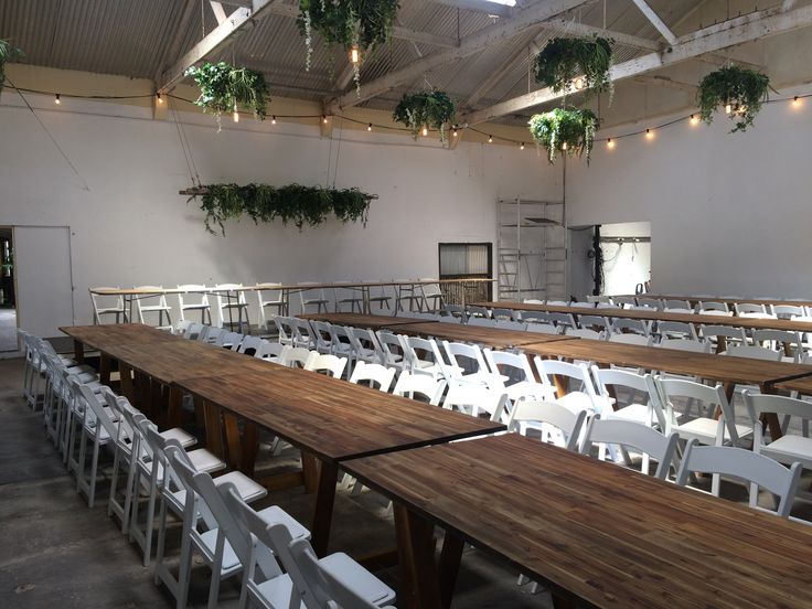 Turned this old dairy factory room into an amazing reception venue... #festoons #edisonlamps #wedding #rustic