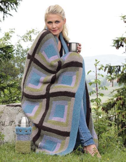Lapp på lapp - kosepledd!  Strikk & bruk II/Du Store Alpakka  Design: Randi Ballangrud  Foto: Kari Hestnes