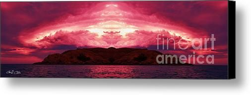 Awsome Sunset Canvas Print / Canvas Art By Geoff Childs