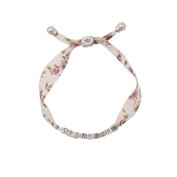 Bracelet Bonheur en liberty