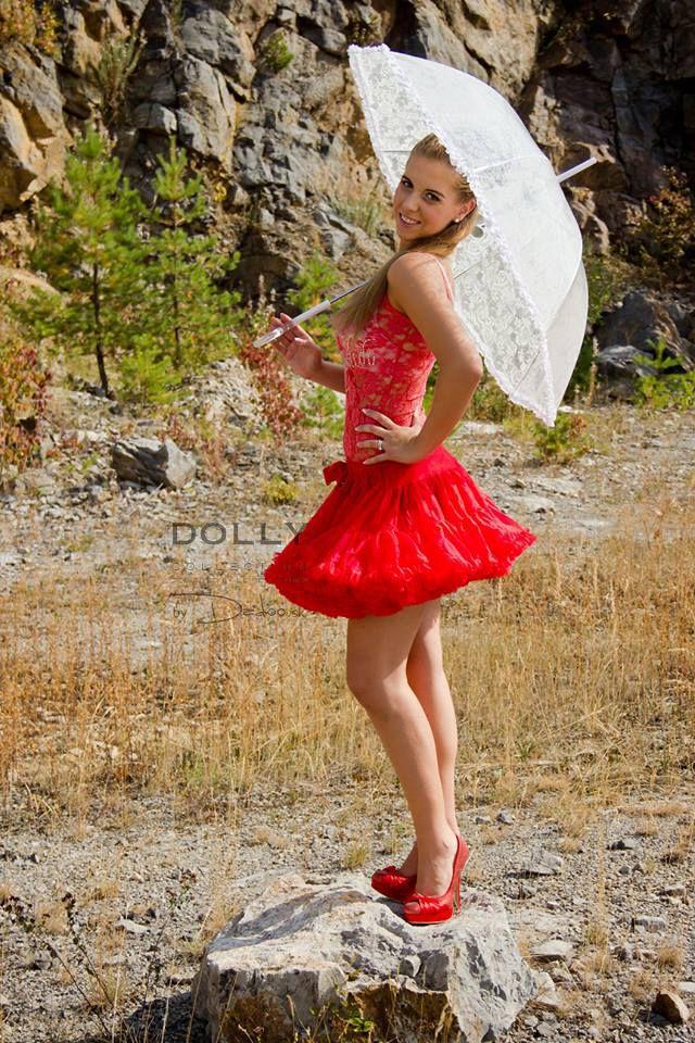 Little red riding hood dolly skirt