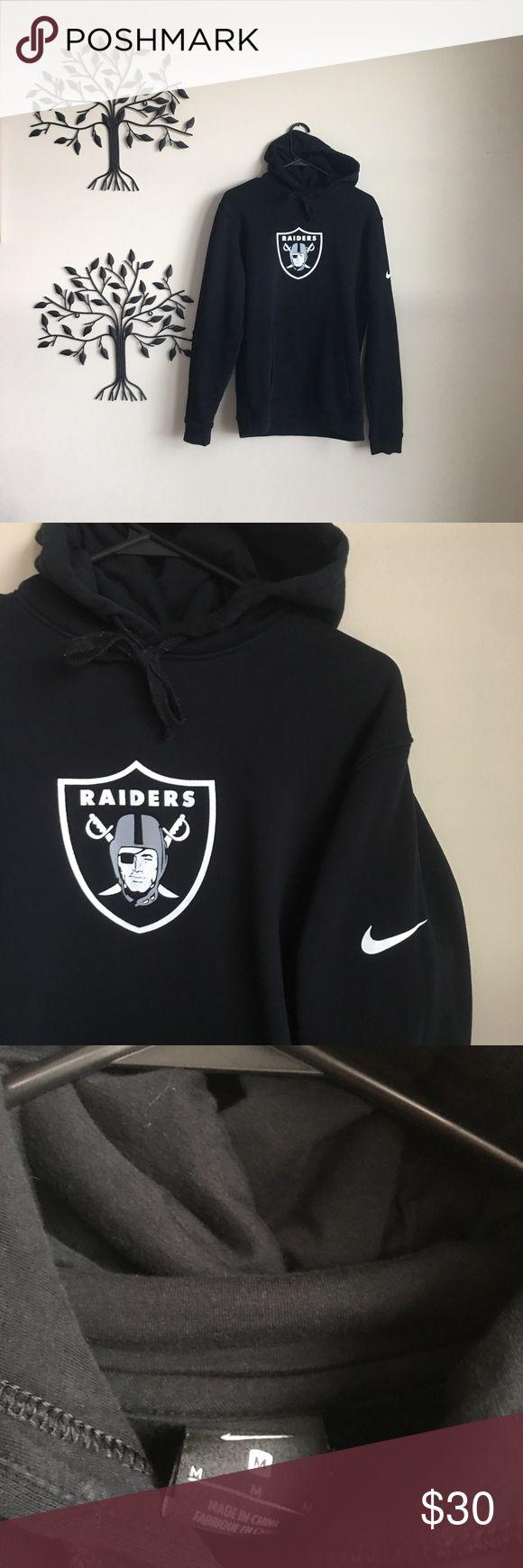 Nike NFL Oakland Raiders Hoodie Very Nice Nike Oakland Raiders NFL Hoodie   Color is Black With White Logo   Size men's Medium Nike Shirts Sweatshirts & Hoodies