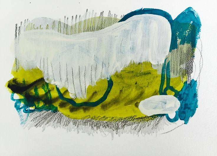 Norwegian painter Kristin Jensen Romberg. Work on paper. http://www.kristinromberg.com/