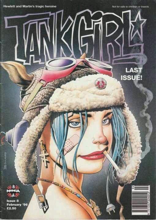 Manga Tank Girl Magazine #8 (1995) cover by Brian Bolland
