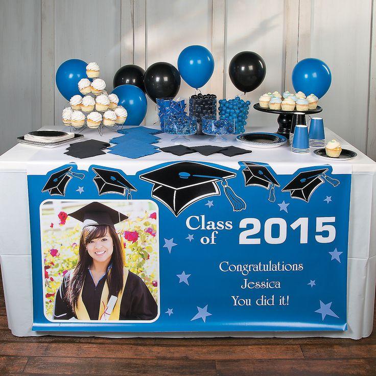 Graduation Custom Photo Table Runner - OrientalTrading.com