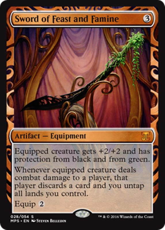 Sword of Feast and Famine Masterpiece Series Kaladesh Inventions Magic the Gathering card