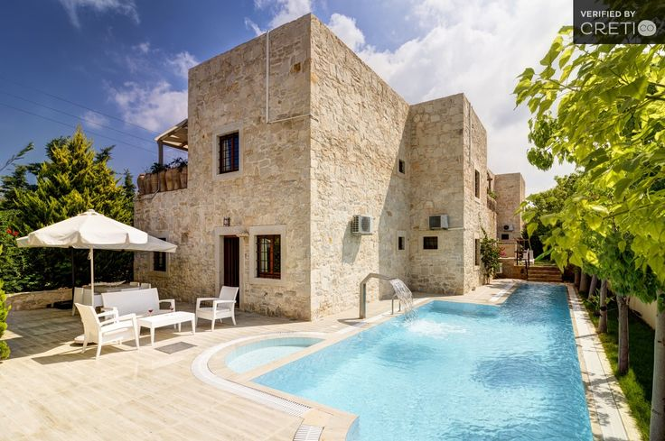 Traditional villa with modern design, playground and garden, Agia Pelagia | Cretico
