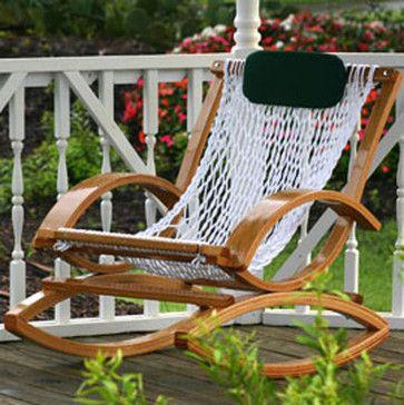 Deluxe Bent Oak Rocker - eclectic - outdoor chairs - other metro - hammockcompany.com