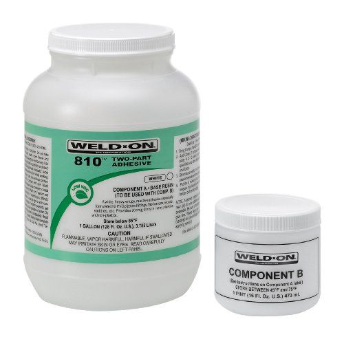 Weld-On 10813 Two-Component Reactive Adhesive, Plastic Jar With Screw-On Cap, 4 Ounce, White, 2015 Amazon Top Rated Ethylene Vinyl Acetate Adhesives #BISS