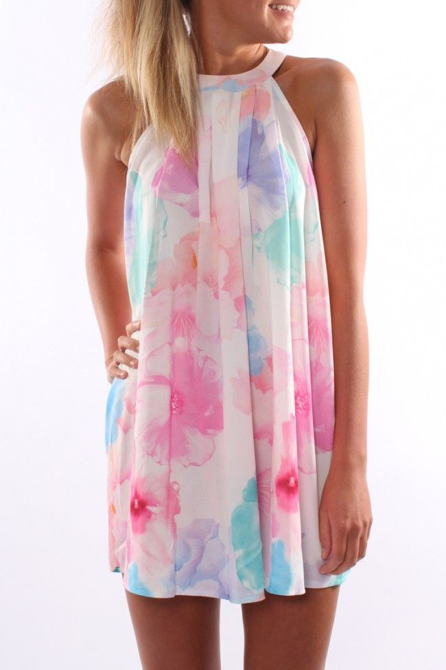 Floral halter dress ONLY IF I CAN FIND ONE KNEE LENGTH