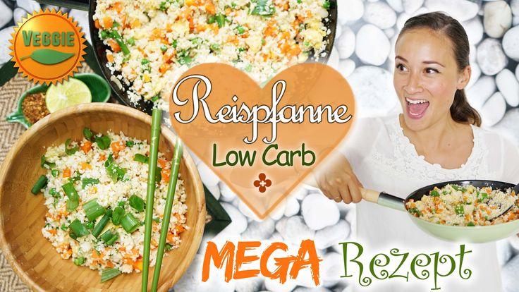 Low Carb Rezept - gebratener Reis ohne Reis ;)  wenig Kalorien - Gesunde...