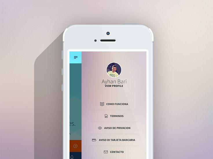 Side menu loan app by Ayhan Bari
