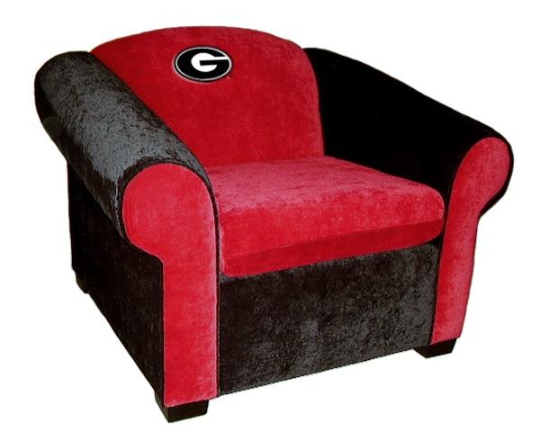 Superb Georgia Bulldogs Teamseats Varsity Microsuede Club Chair   Via  Bit.ly/epinner