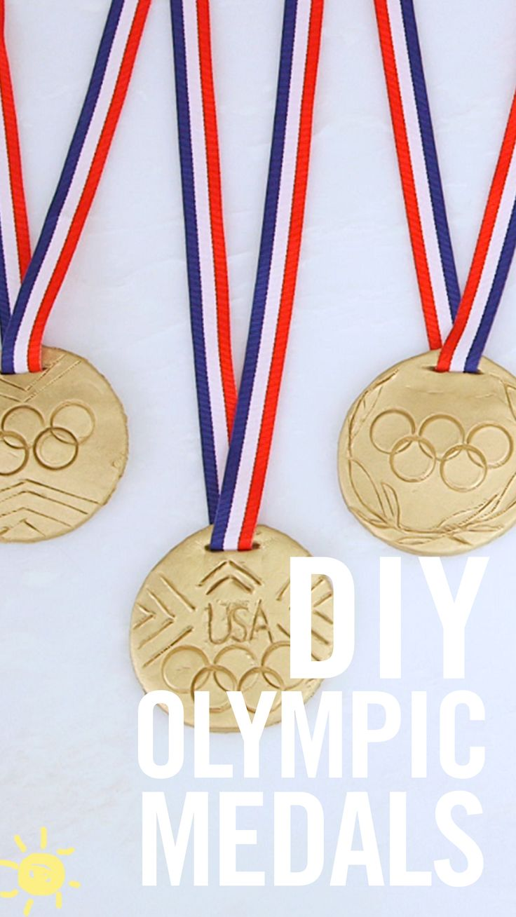 Get into the Olympic spirit with these super cool easy to make gold medals…this…