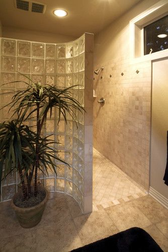 Bath Photos Corner Tile Walk In Shower No Glass Design, Pictures, Remodel, Decor and Ideas - page 10