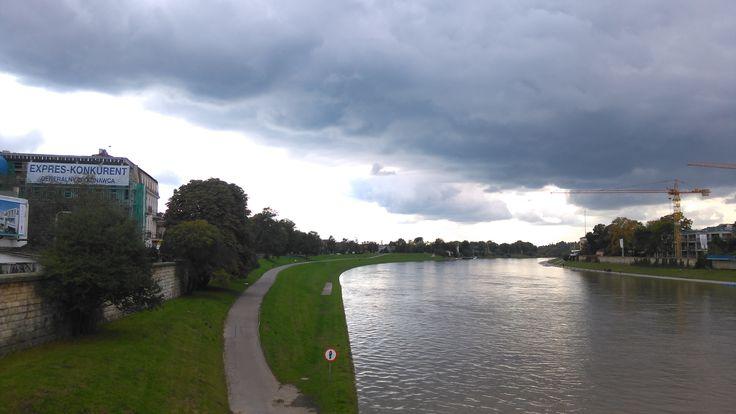 clouds Vistula river