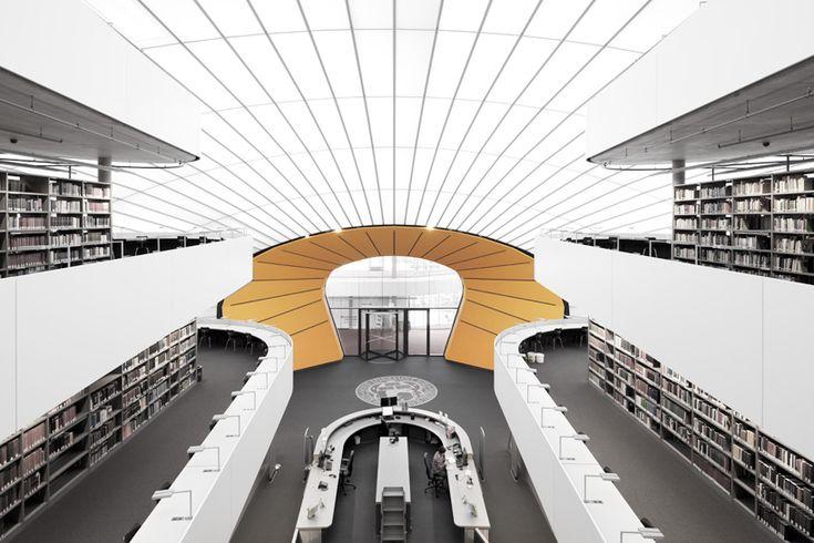 philologische bibliothek by norman foster leaves its mark in berlin - designboom | architecture