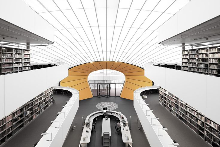 philologische bibliothek by norman foster leaves its mark in berlin - designboom   architecture