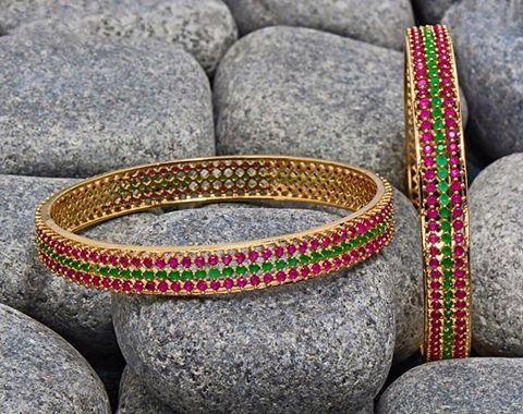 Beautiful Bangle Designs, Beautiful Stone Bangle Designs.
