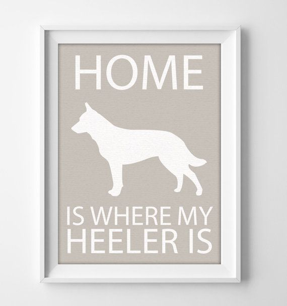 This 8x10 Heeler wall art is printed with a brilliant matte finish on 80# textured linen card stock. Illustrated pet prints make unique and personalized