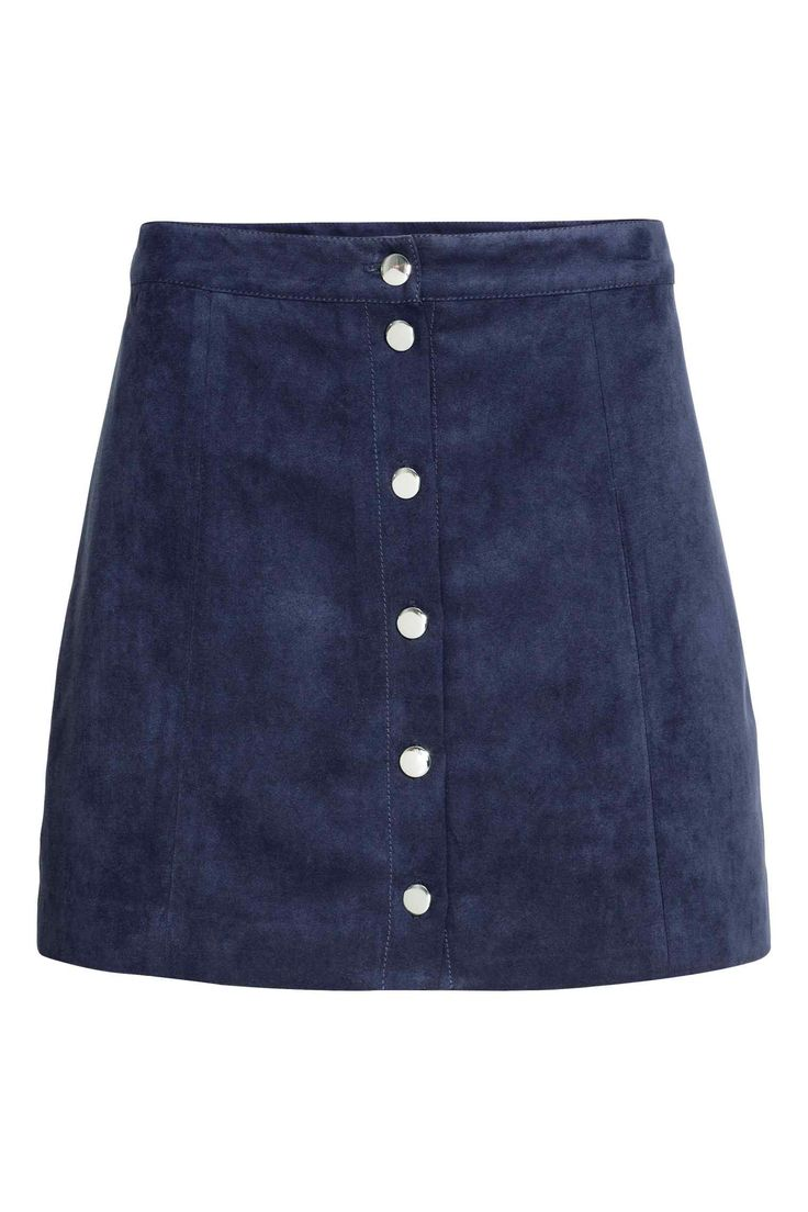 Navy suede skirt