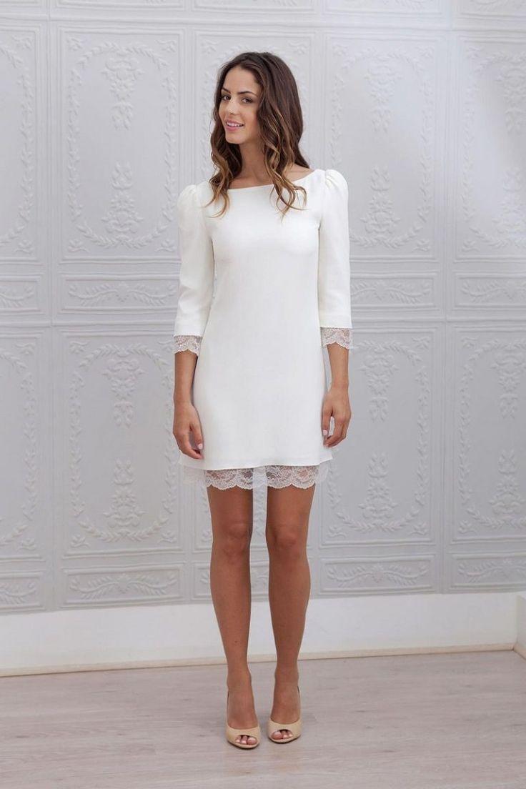 30 inspirações de vestido de noiva curto | roupas | Informal wedding dresses, Civil wedding dresses, Dresses