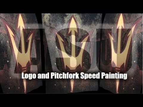 ASU Sundevil Pitchfork Speed Painting | Process Video