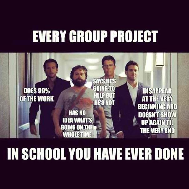 The hangover funny group project