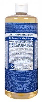 Dr. Bronner's Magic Soaps Pure-Castile Soap, 18-in-1 Hemp Peppermint 32 Ounce
