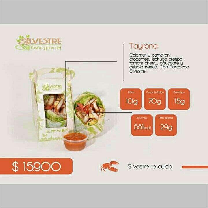 ¡Nuestro menú del día está riquísimo!   Disfruta hoy el combo saludable de jugo, chips y #wrap por $15.900   TAYRONA: Anillos de calamar y camarones (opción crocantes o al grill), lechuga crespa, tomates cherry, aguacate y cebolla fresca.   ¡Disfruta de la mejor alimentación saludable!  #domiciliosMedellín #ensaladas #wraps #comidademar
