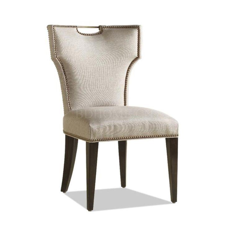 餐椅 楸木实木框架+布艺软包 MD3204 W480*D575*H850 mm