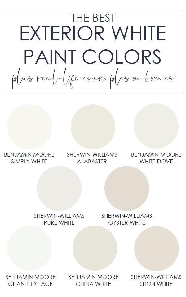 The Best Exterior White Paint Colors White Paint Colors