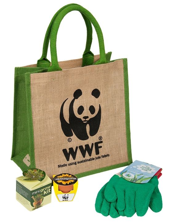 WWF UK jute gardening kit - see more of our charity Christmas gifts for gardeners here! http://www.charitychoice.co.uk/blog/charity-christmas-gifts-for-gardeners/109