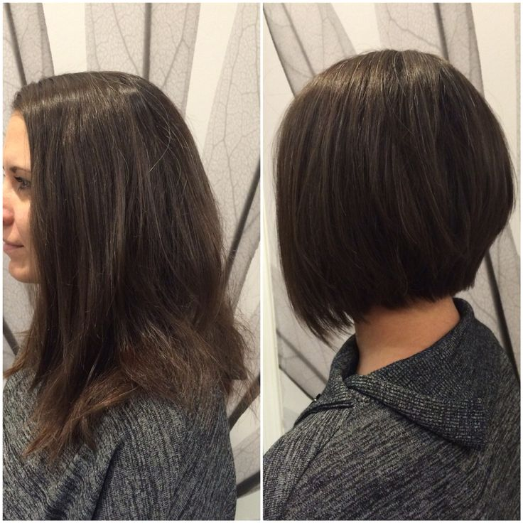 Hair by Kendra. Long hair, cut and razored, into a layered trianglular bob. To book an appointment with Kendra, call (780) 467-3288 or visit our website at www.sylviaco.com. Located in Sherwood Park, Alberta, Canada.