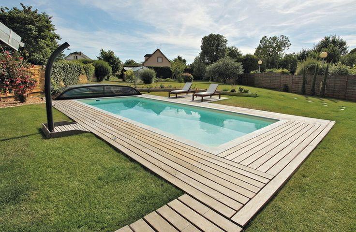 piscine de 10 x 4 m avec un liner sable une filtration. Black Bedroom Furniture Sets. Home Design Ideas