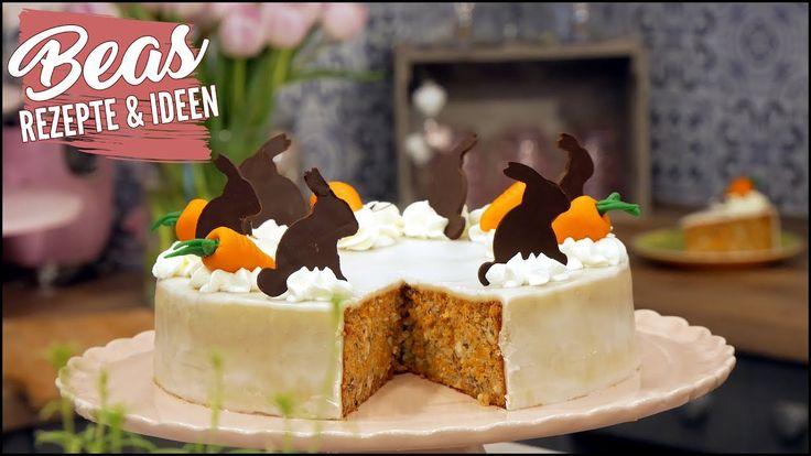 Möhren-Nuss Torte Rezept mit Marzipandecke | Saftig Backen zu Ostern - YouTube