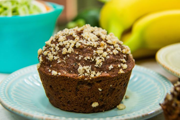 Delicious and fluffy chocolate zucchini muffin by Liza Huber! For more great recipes tune in at 10a/9c on Hallmark Channel!