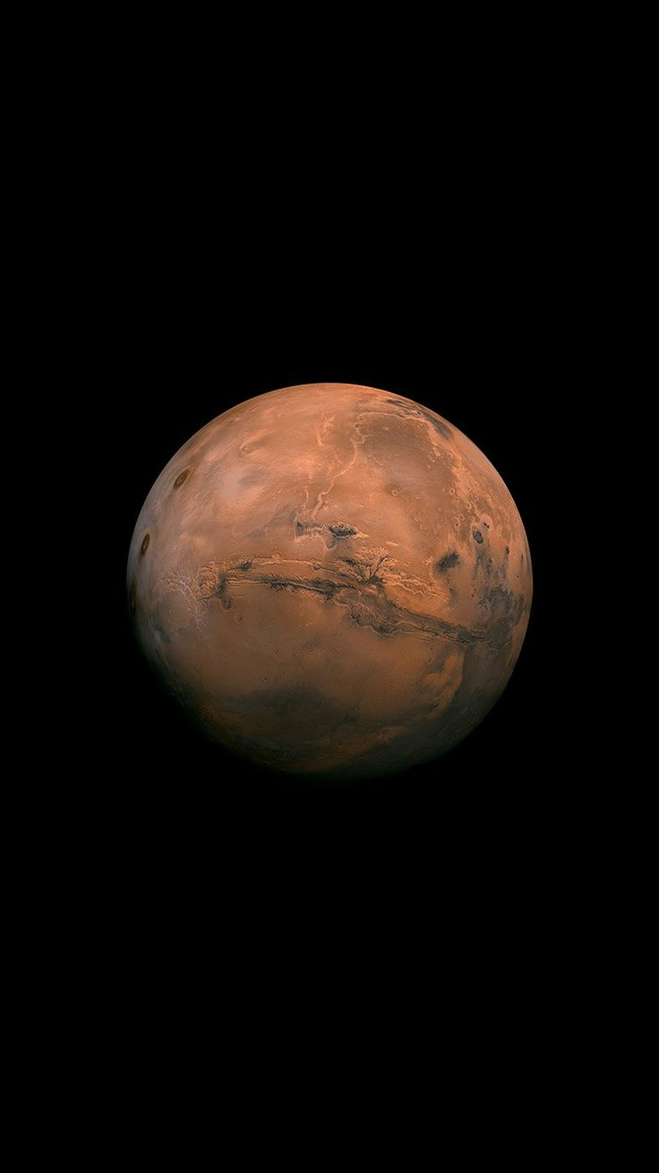 MARS RED DARK MINIMAL ART SPACE PLANET WALLPAPER HD IPHONE