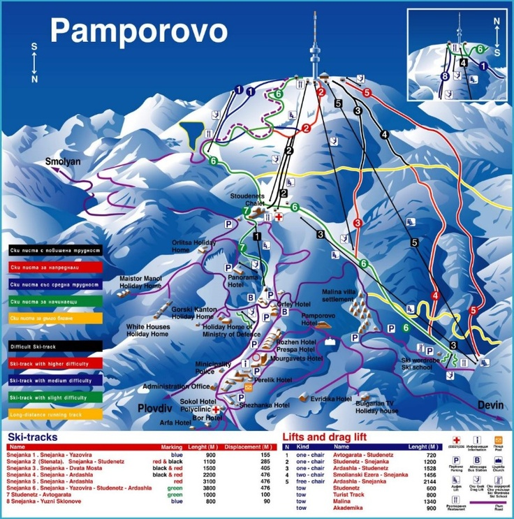 Pamporovo: the little known ski jewel of Bulgaria , Map www.pamporovovillas.com