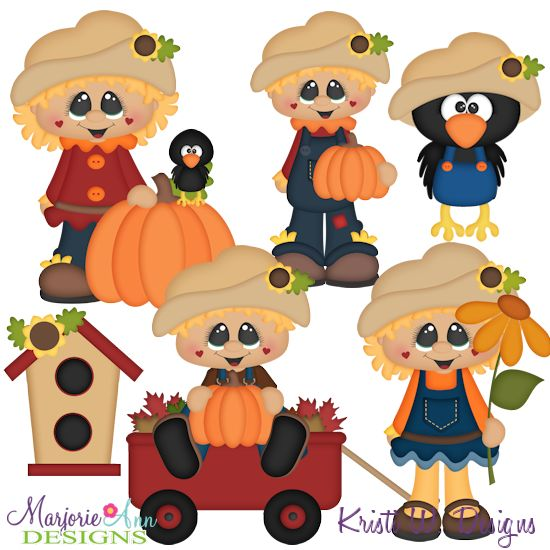 Happy Fall Scarecrows SVG-MTC-PNG plus JPG Cut Out Sheet(s) Our sets also include clipart in these formats: PNG & JPG