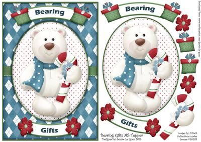 Bearing Christmas A5 Topper on Craftsuprint - Add To Basket!