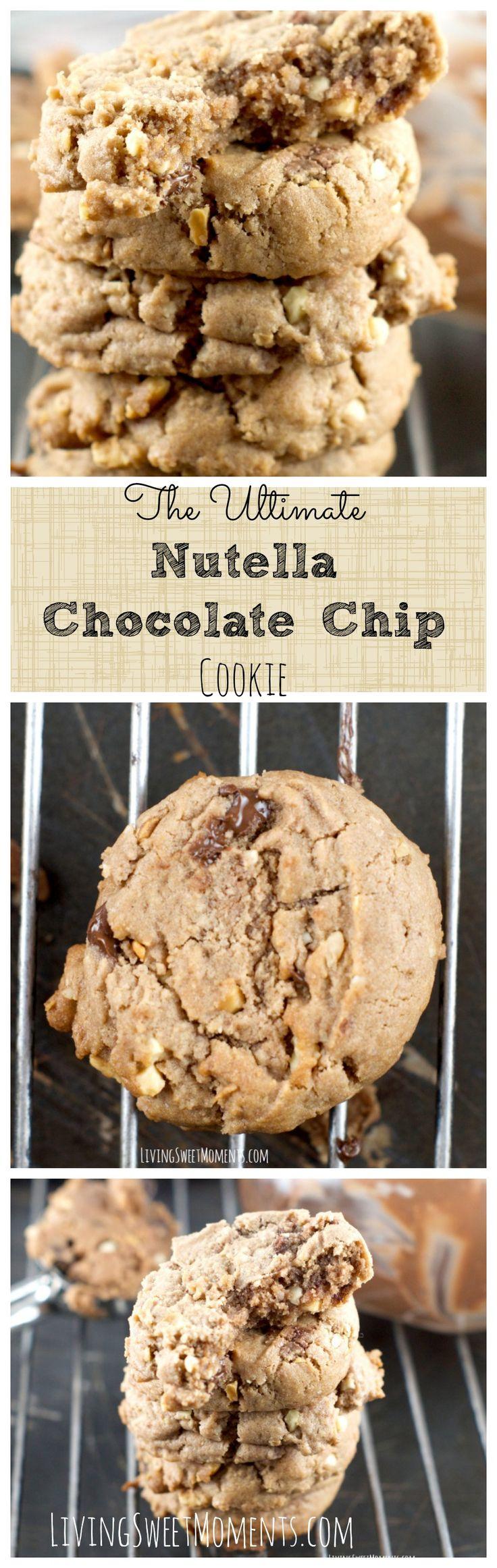 Best 10+ Nutella chocolate chip cookies ideas on Pinterest ...