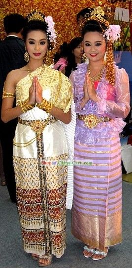 Thailand traditional clothing thailand clothing for Laos wedding dress for sale