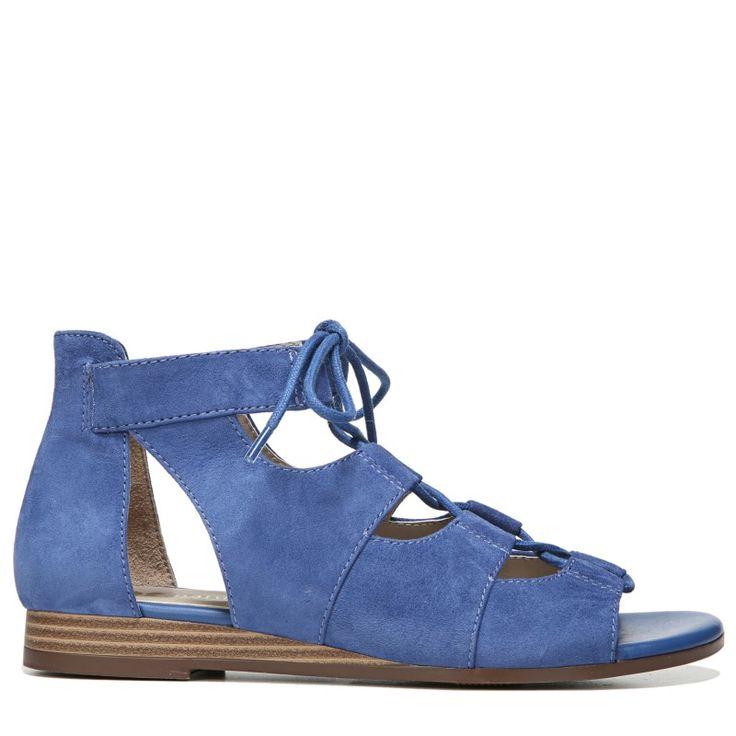 Naturalizer Women's Kira Narrow/Medium/Wide Ghillie Sandals (Blue Leather)