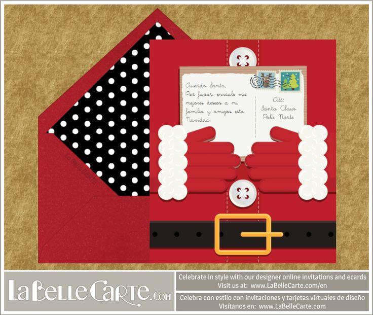 Designer Christmas Ecards / Greeting Ecards: Celebrate in style with LaBelleCarte at www.LaBelleCarte.com  Tarjetas de Navidad virtuales muy originales: Celebra con estilo con las invitaciones y tarjetas de diseño de LaBelleCarte. Puedes ver más en: www.LaBelleCarte.com