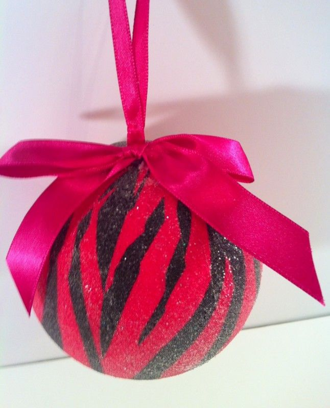 39 best Hot pink and Zebra print Christmas images on Pinterest