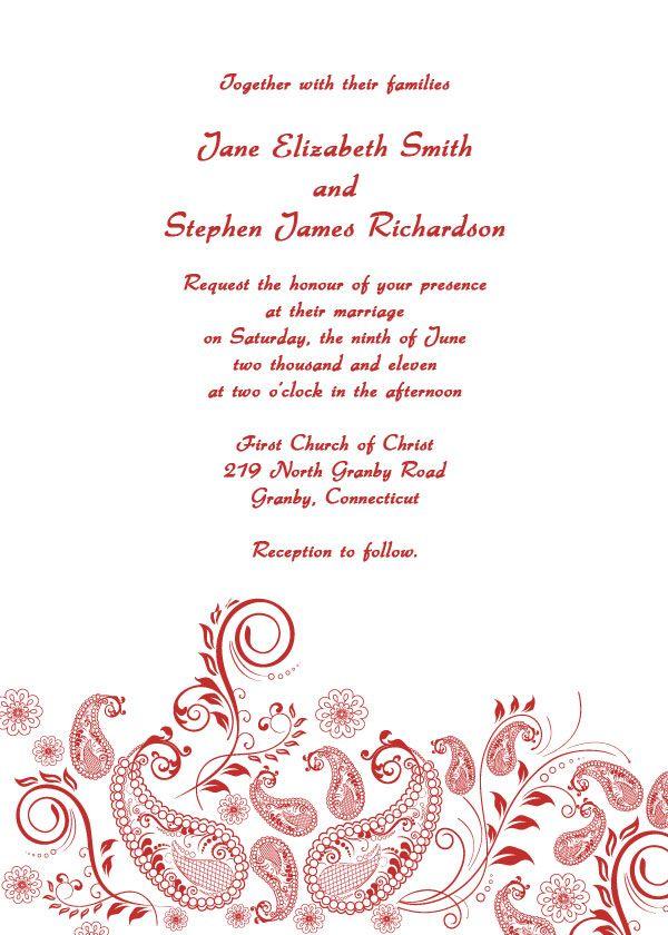 10 best Wedding Invitation Templates images on Pinterest Weeding - party invitations templates free downloads