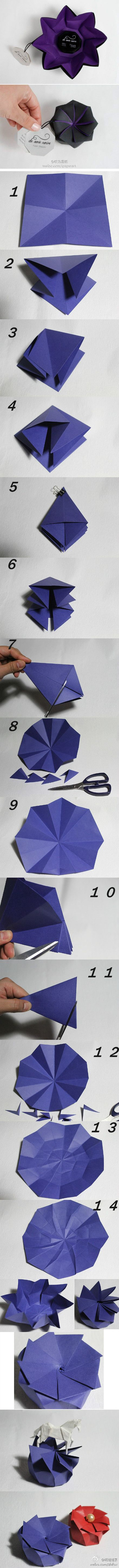 Origami pop up box template PD
