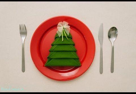 Χριστουγεννιάτικη διακόσμηση με χαρτοπετσέτες.